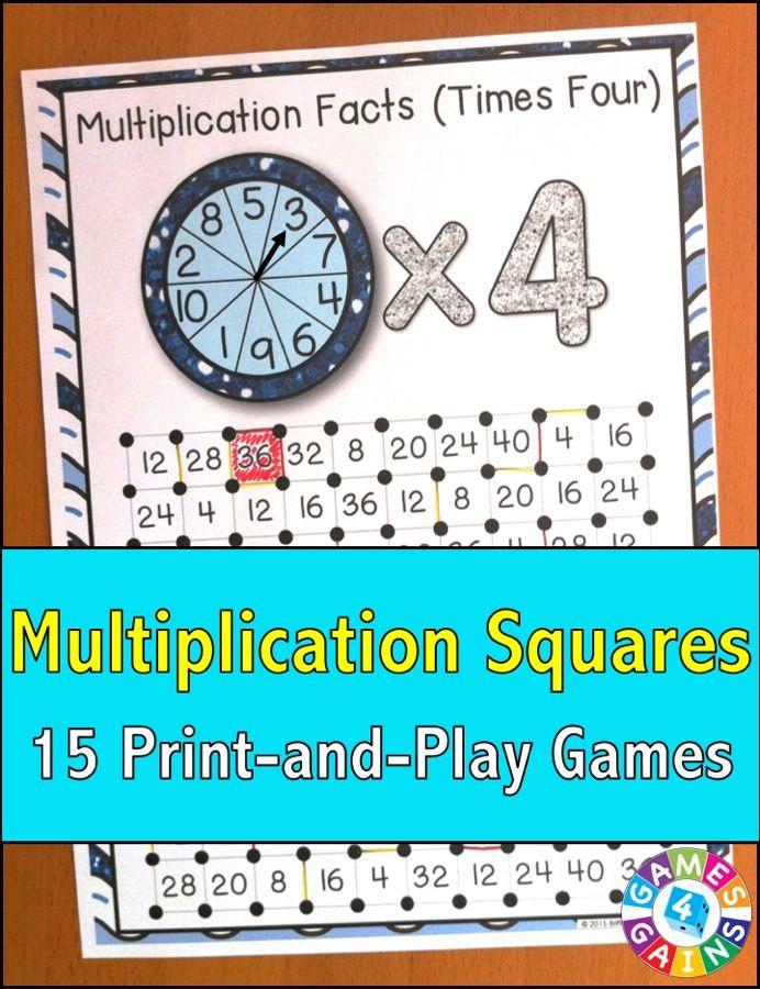 Multiplication Games: 17 Multiplication Facts Games {Multiplication ...