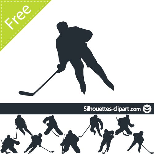 Hockey Player Vector Silhouette Silhouettes Clipart Hockey Players Hockey Birthday Hockey Tournaments
