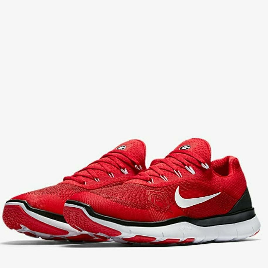 official photos 55f76 640ea ... Georgia Bulldogs Nike Free Trainer v7 Spring Games Collection Shoes -  Red Nike Lunar ...