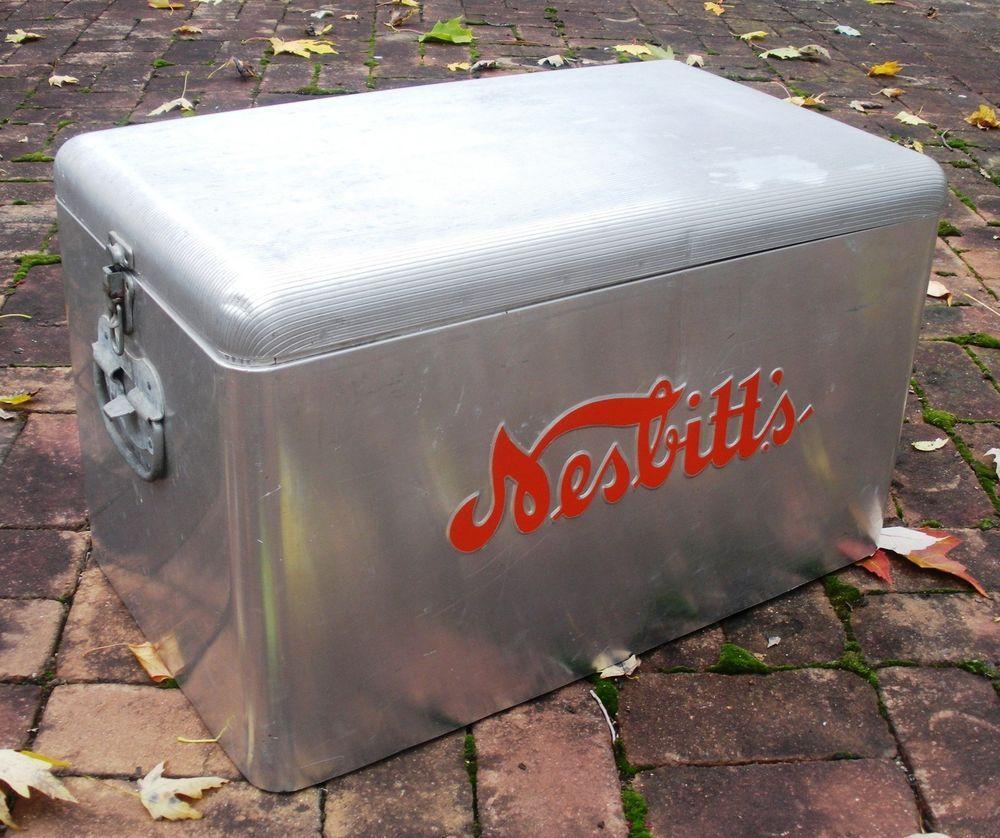 Nesbitt's Soft Drink Aluminum Cooler Original Vintage 1950's