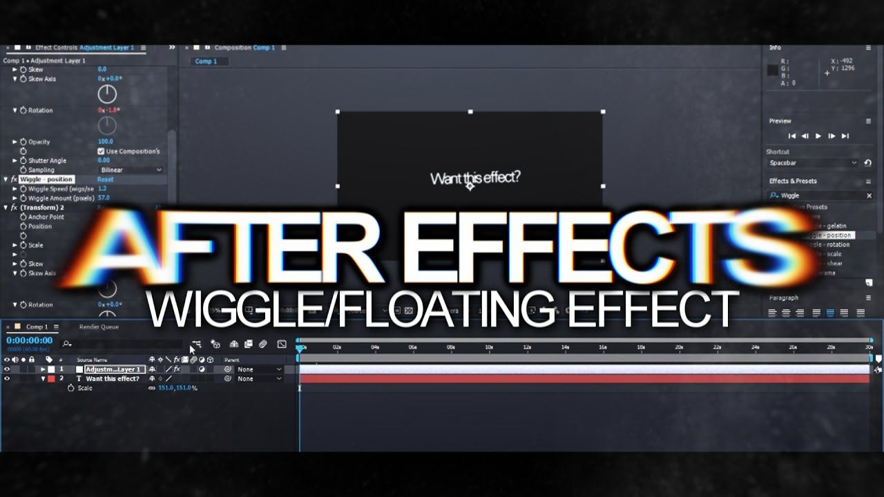 After Effects | Wiggle/Floating Effect Tutorial! | tutorial