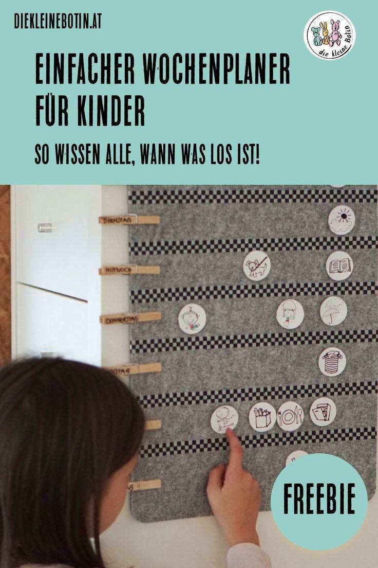 DIY-Wochenplaner für Kinder #wanderlust