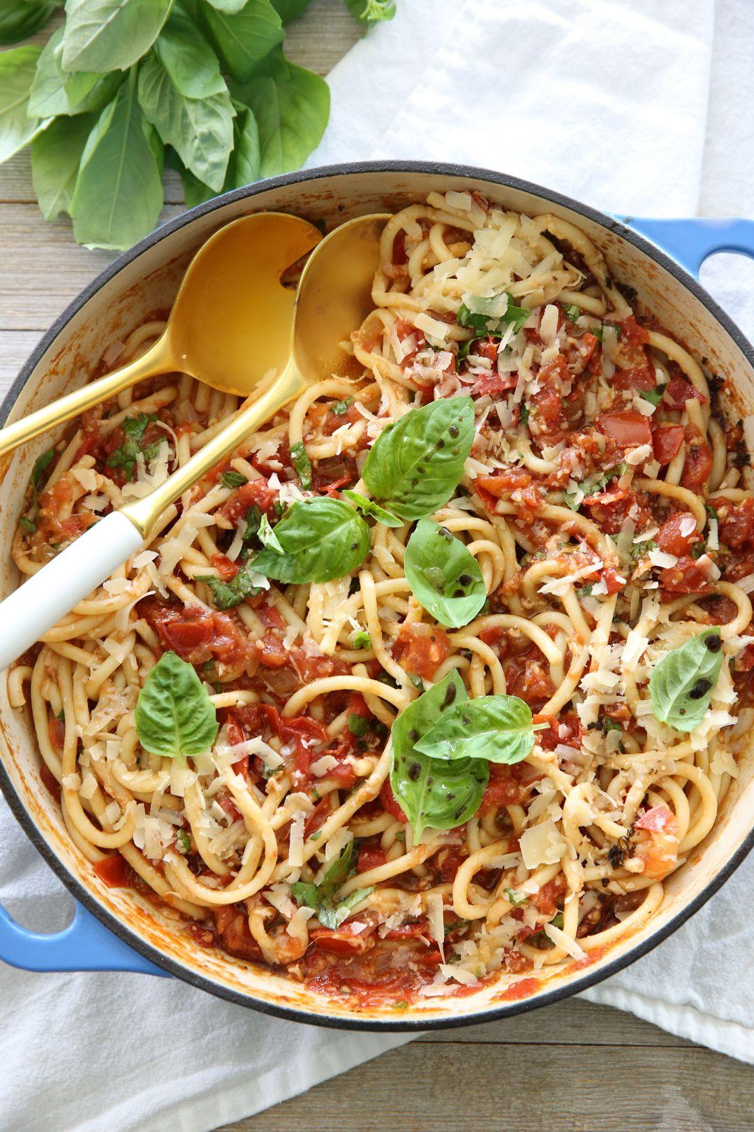 Fresh Tomato Basil Pasta Recipe Fresh Tomato Pasta Pasta Sauce Homemade Tomato Basil Pasta