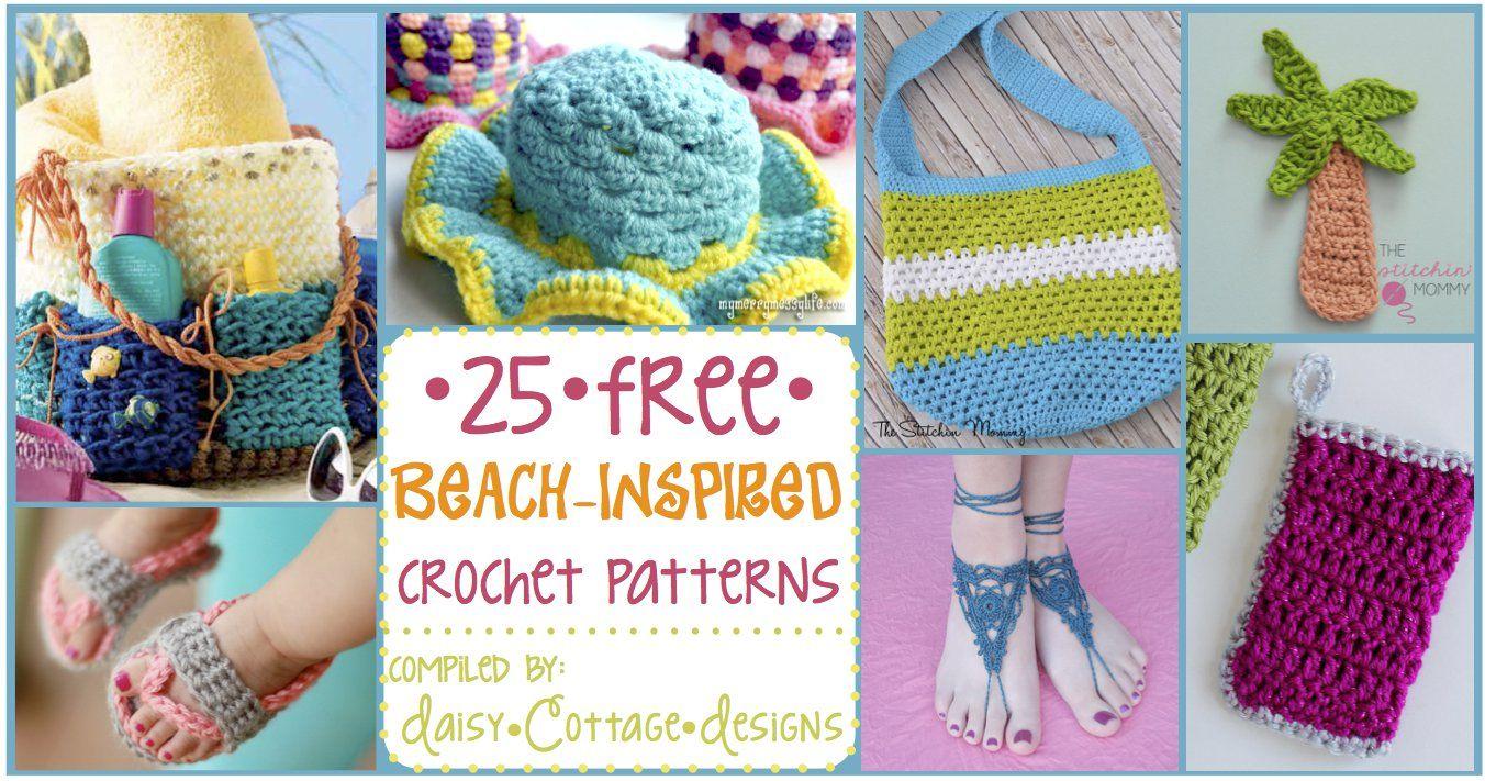 25 Crochet Ideas for Summer   Manualidades para niños, Patrón gratis ...