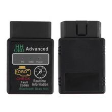 Mini ELM327 V2.1 Bluetooth HH OBD Advanced OBDII OBD2 ELM 327  Car Diagnostic Scanner code reader scan tool for Android.Windows