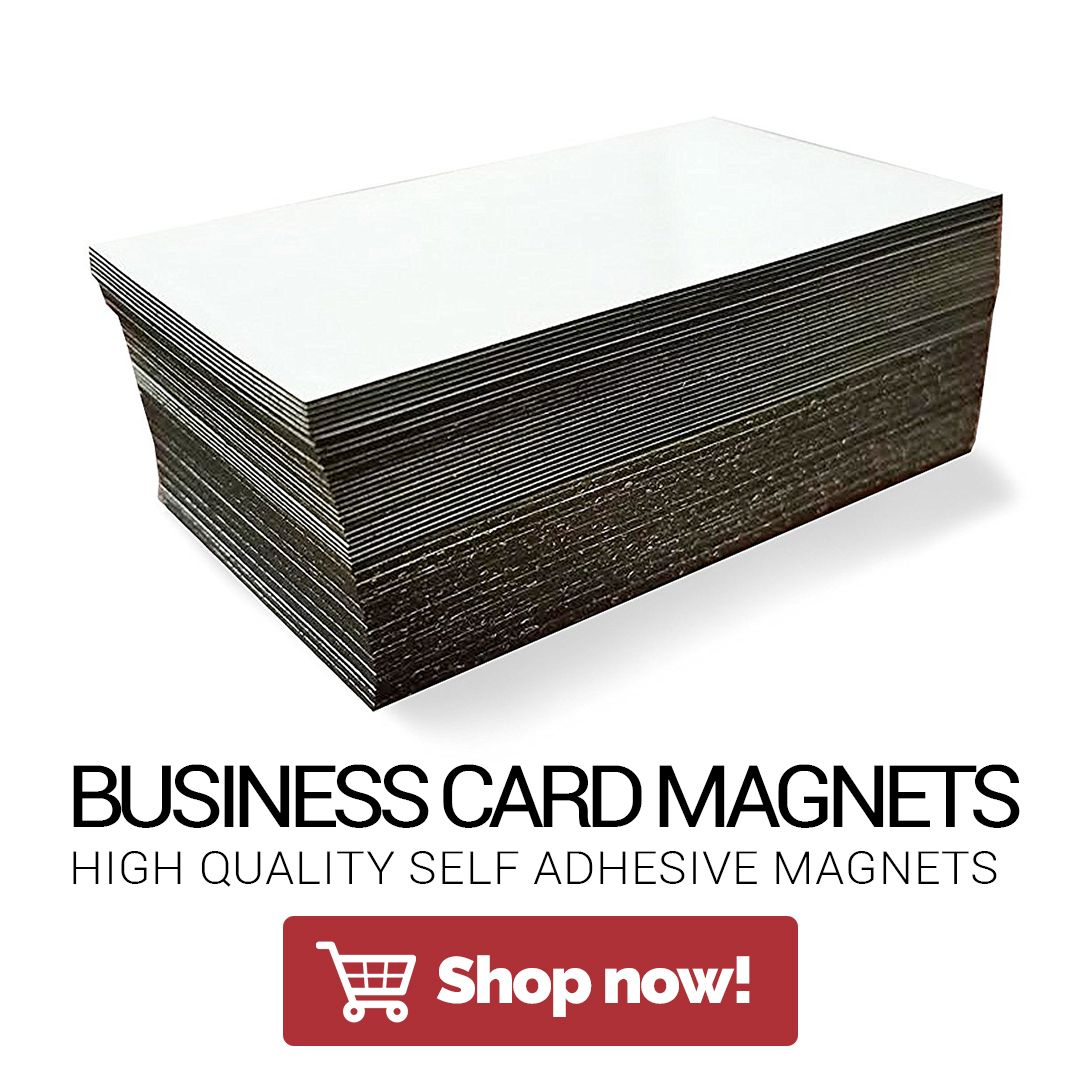 Self Adhesive Business Card Magnets from Flexible Magnets, 20 mil ...