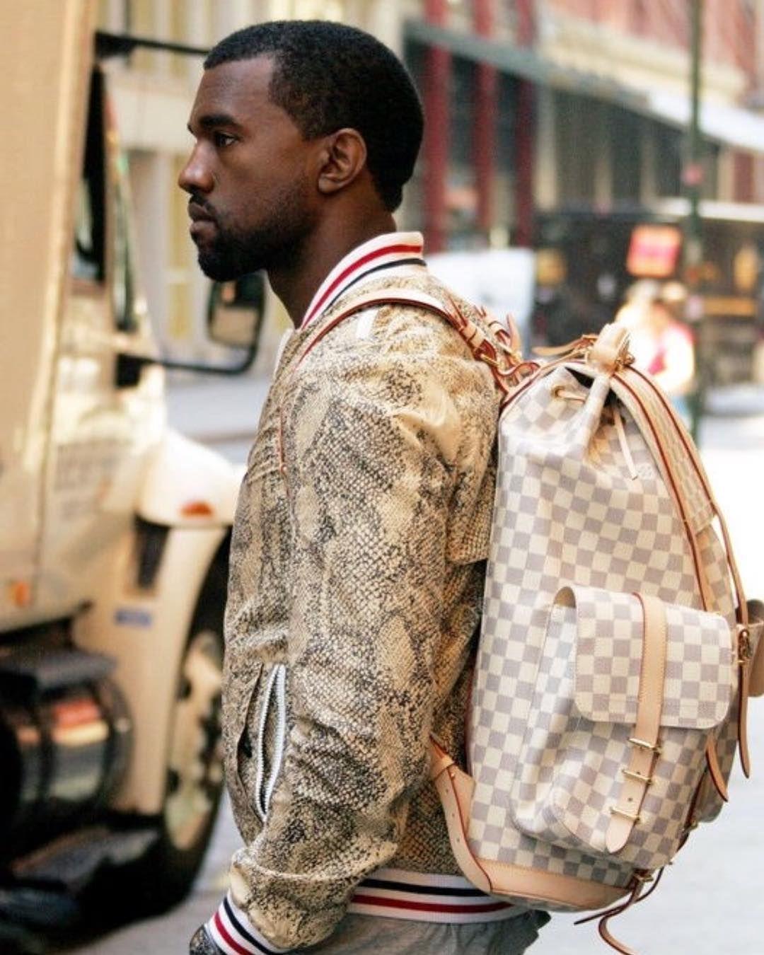 Mslv On Instagram Louis Vuitton Kanye West X Damier Azur Backpack In 2020 Louis Vuitton Backpack Louis Vuitton Louis Vuitton Men