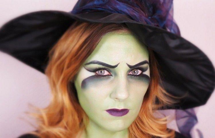 maquillage halloween facile r aliser en vert noir et. Black Bedroom Furniture Sets. Home Design Ideas