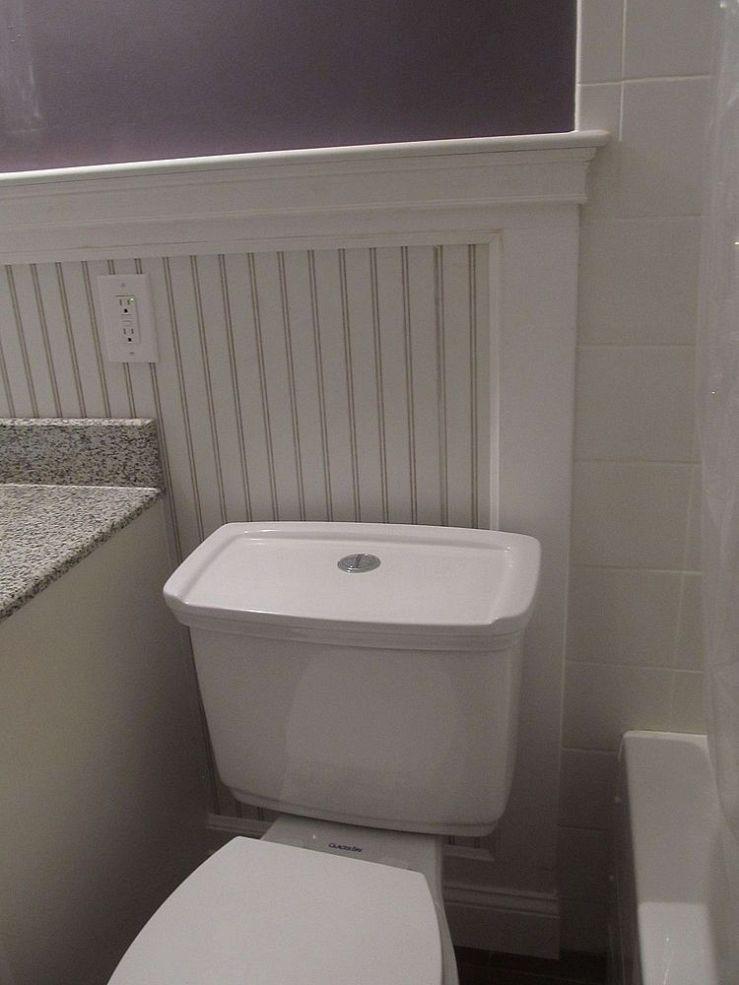 Beadboard Bathroom Redo Small bathroom, Restroom design