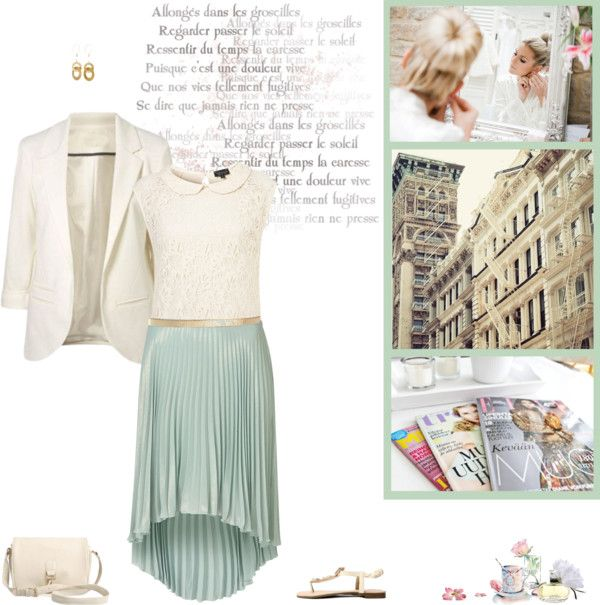 """""""Pastel & White"""" by minni ❤ liked on Polyvore"""