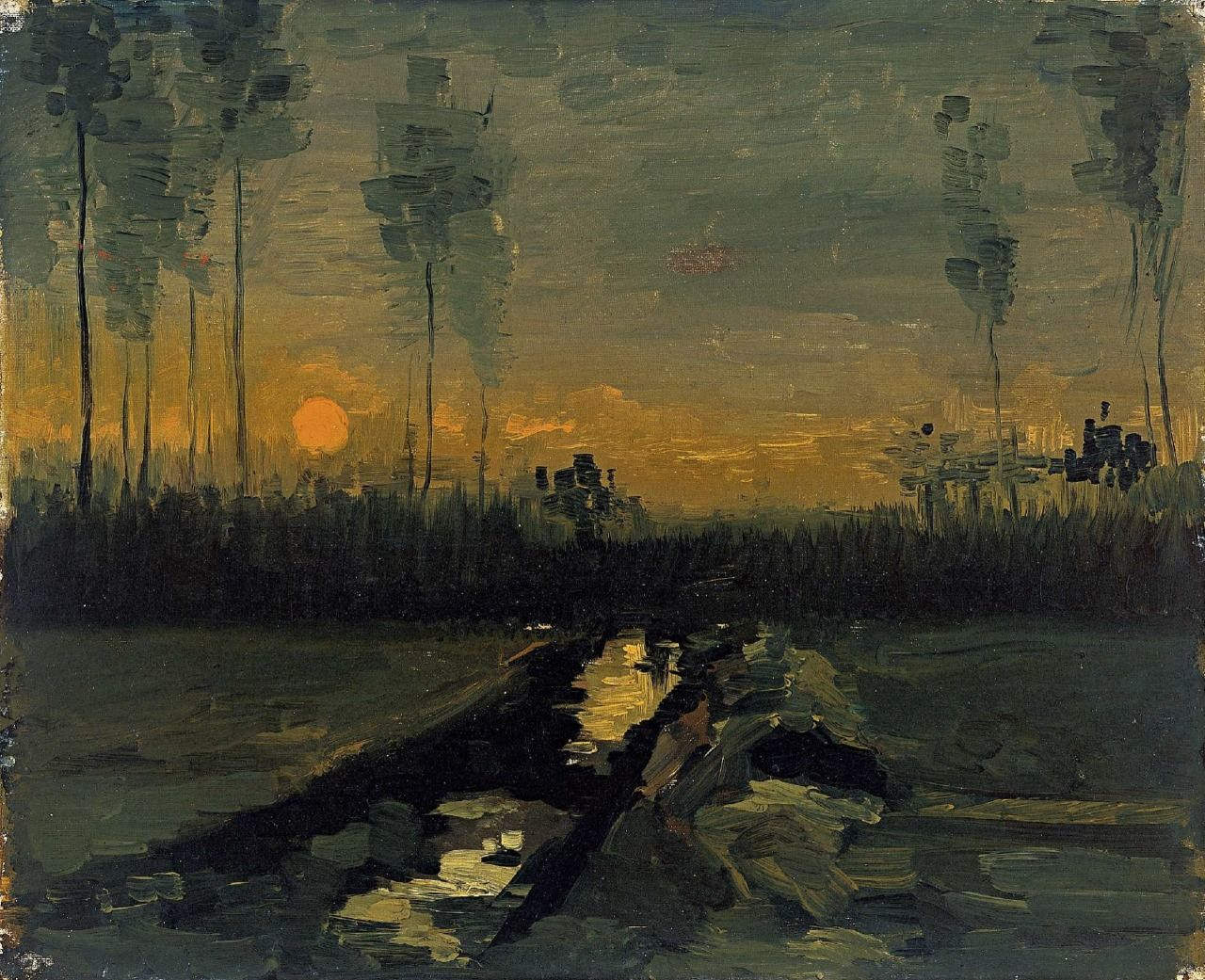 Vincent van Gogh, Evening Landscape, 1885