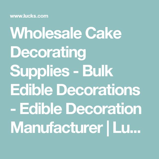 Wholesale Cake Decorating Supplies - Bulk Edible Decorations ...