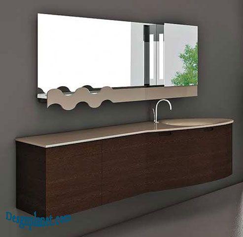 Contemporary Art Websites unique bathroom mirror love the sleek cabinet