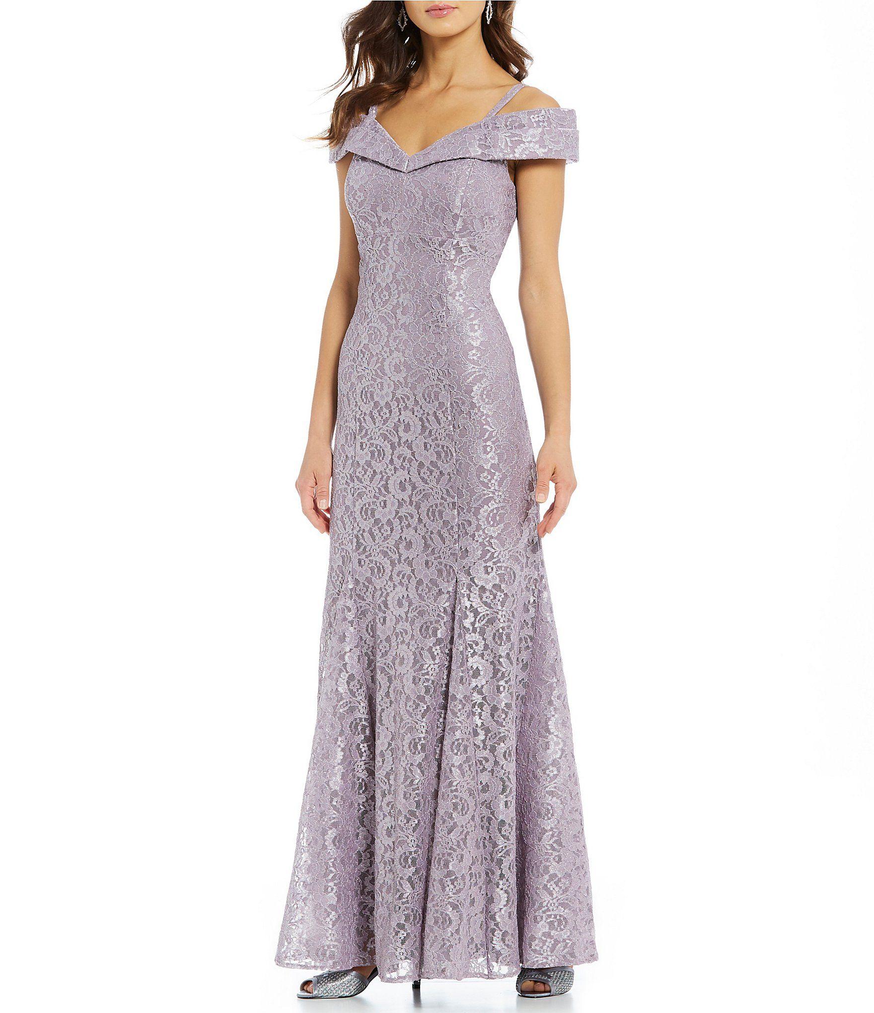 b4b48c004af Shop for R   M Richards Off-the-Shoulder Sweetheart Neck Lace Gown at. Visit