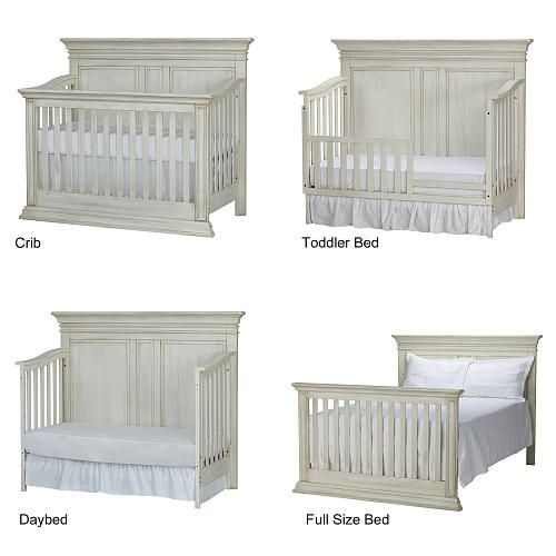 The Baby Cache Vienna Convertible Crib In Antique White Finish Features A Highly Functional Design That Allows To Be Transformed Toddler