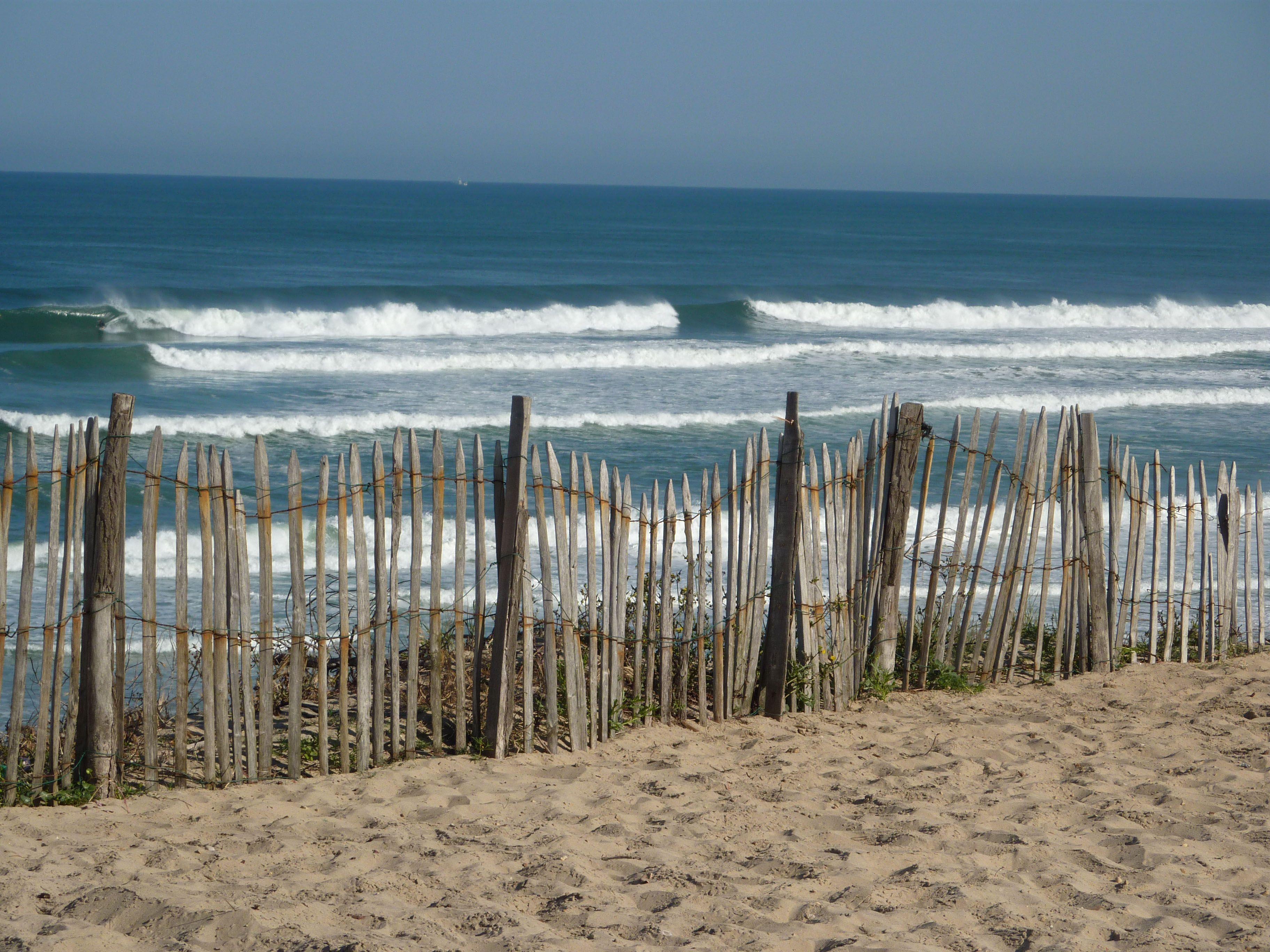 bord de mer et ganivelles landes sea beach plage landes pinterest aquitaine. Black Bedroom Furniture Sets. Home Design Ideas