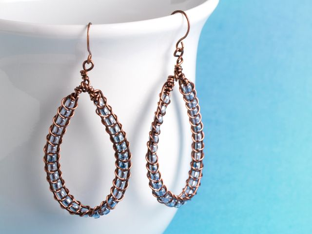Elena Earrings (tutorial from artbeads.com) | Beading & Jewelry ...