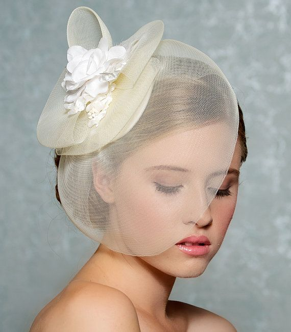 Bridal Hair Fascinator Bridal Hat Wedding Hair by GildedShadows ...