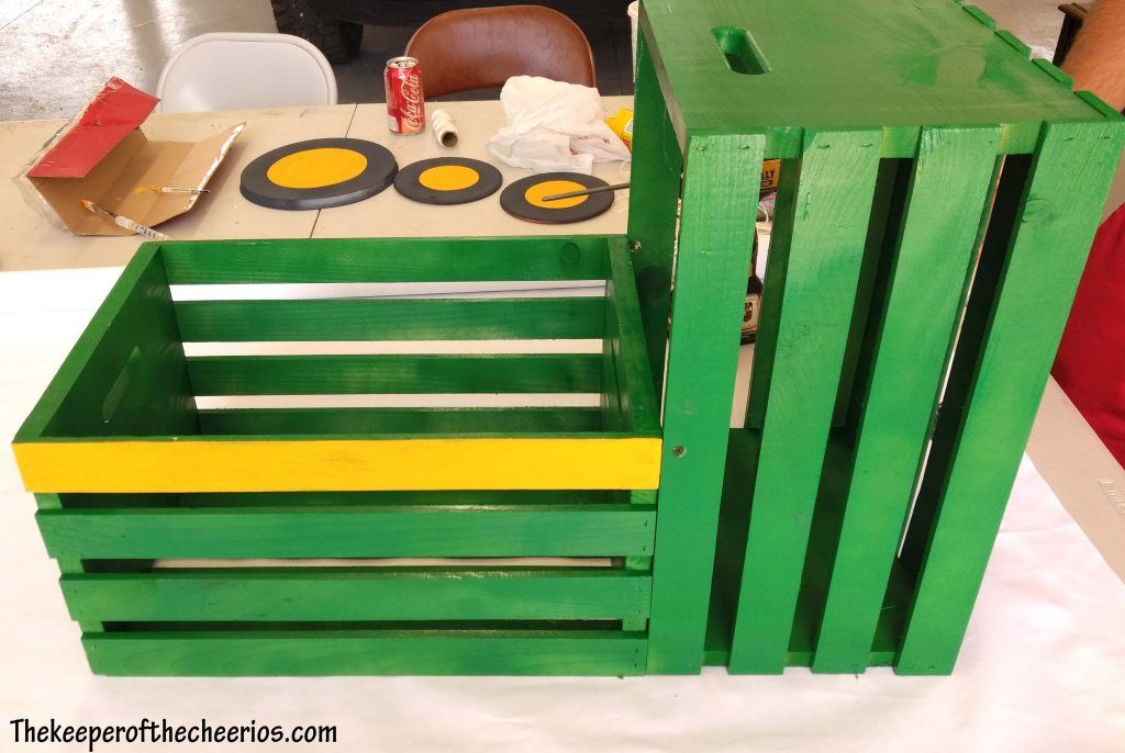 Tractor Toy Box The Keeper Of The Cheerios Tractor Toy Box Toy Boxes Diy Toy Box