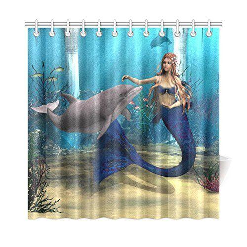 Interestprint Underwater World Home Decor Mermaid Dolphin