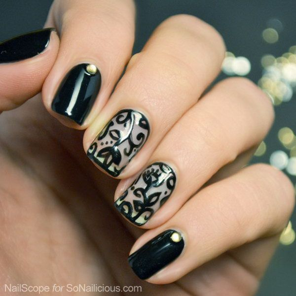 50+ Intricate Lace Nail Art Designs | Lace nail art, Lace nails and ...