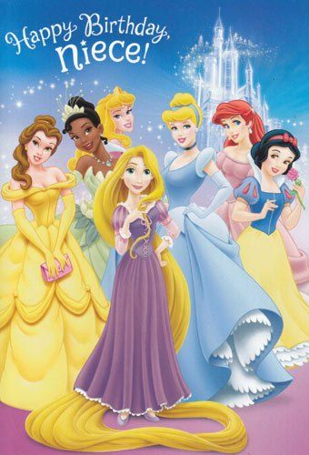 Disney Princess Birthday Wishes ~ Greeting card birthday quot disney princess happy niece with puzzle sticker inside