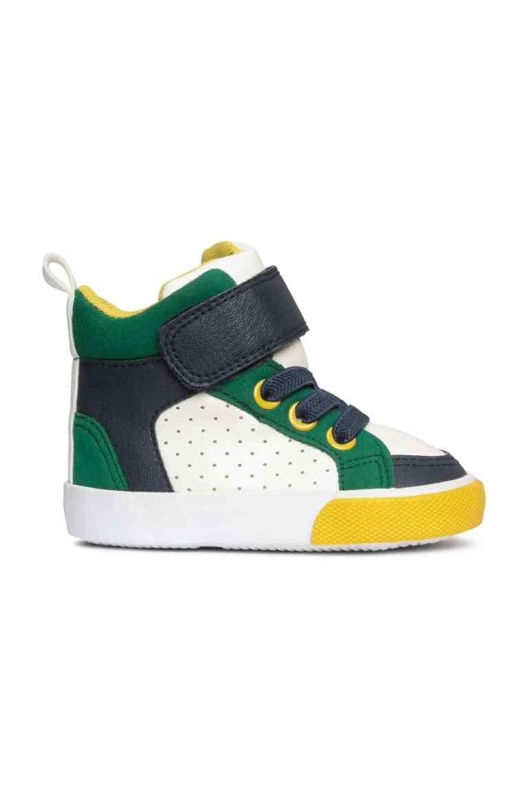 Buty Sportowe Bialy Ciemnoniebieski Dziecko H M Pl Schoenen Sneaker Klittenband