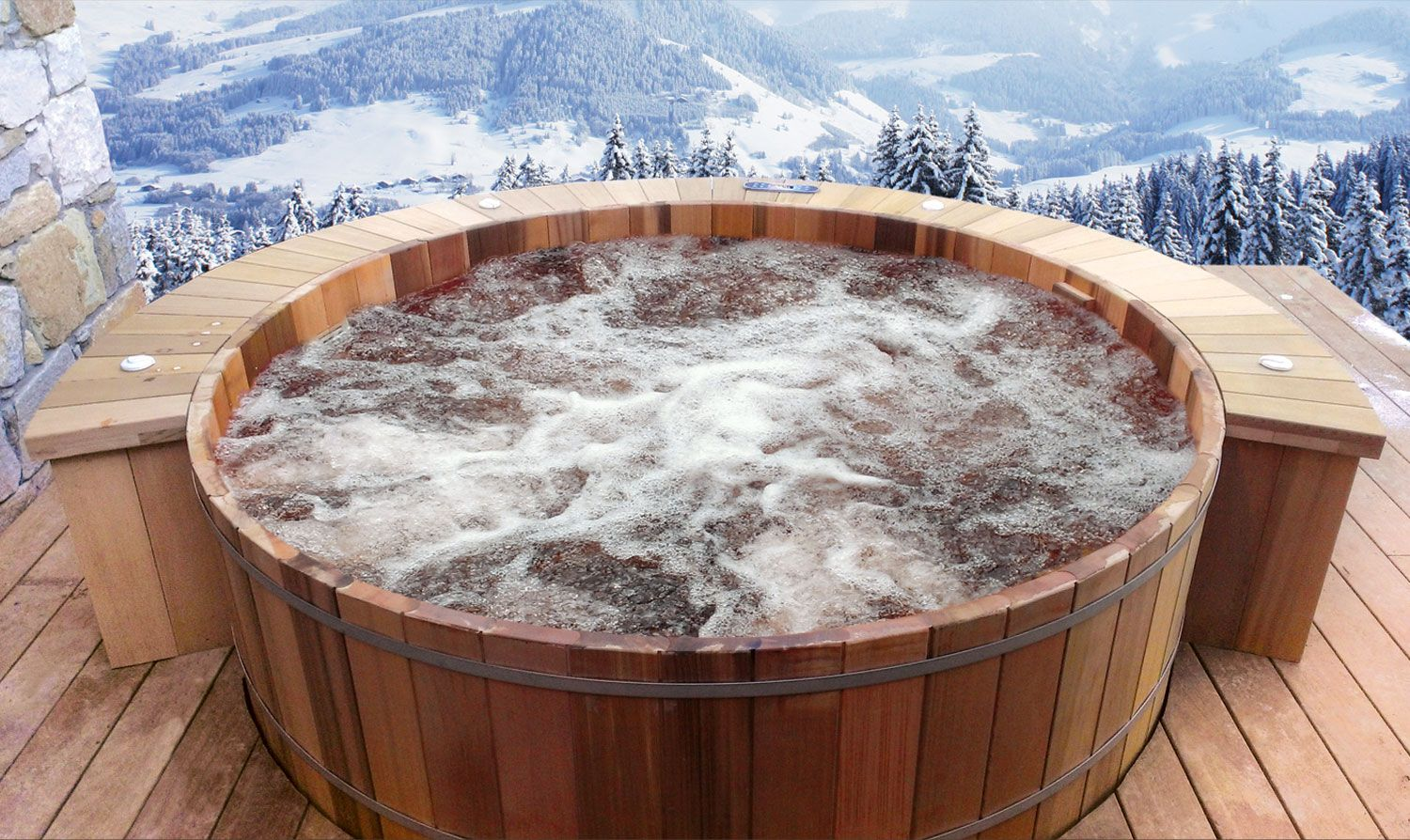 le sp cialiste du spa jacuzzi ext rieur en red cedar. Black Bedroom Furniture Sets. Home Design Ideas