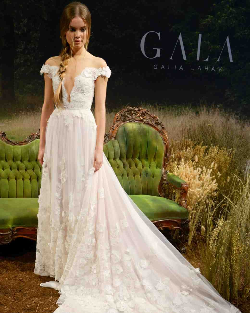 43 Romantic Floral Wedding Dresses Martha Stewart Weddings How Is This Offtheshoulder Bodice And 3d Embroidery Looks Gorgeous: Wedding Dresses Bottom D At Reisefeber.org