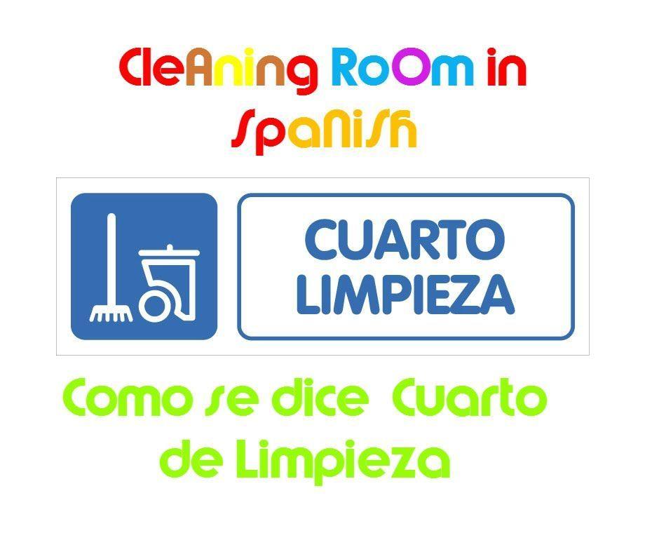 El cuarto de limpieza   Cleaning Room  Learn Spanish   Spanish Words ...