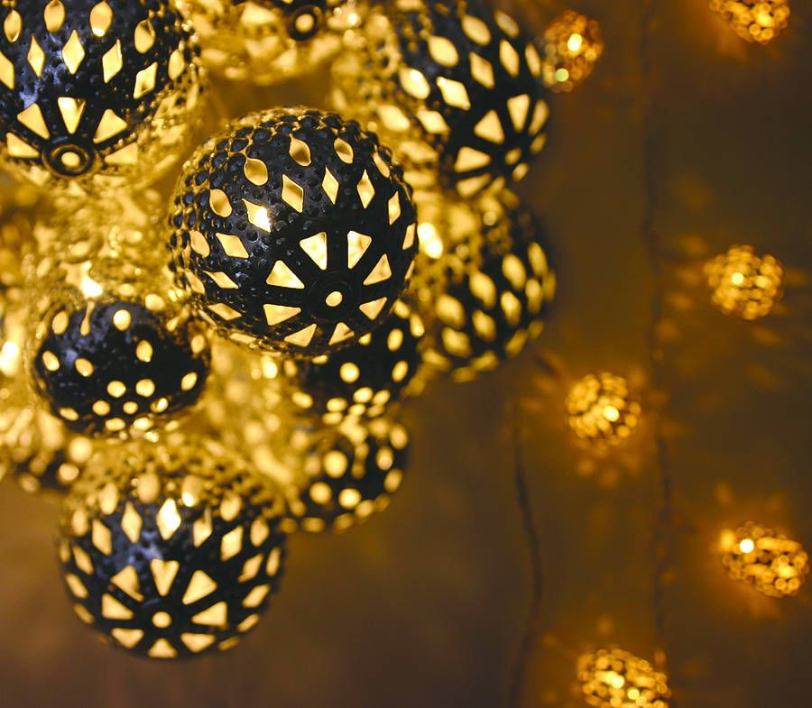 Decorative Indoor String Lights Endearing Decorative Moroccanstyle Light Stringhortus Online Review