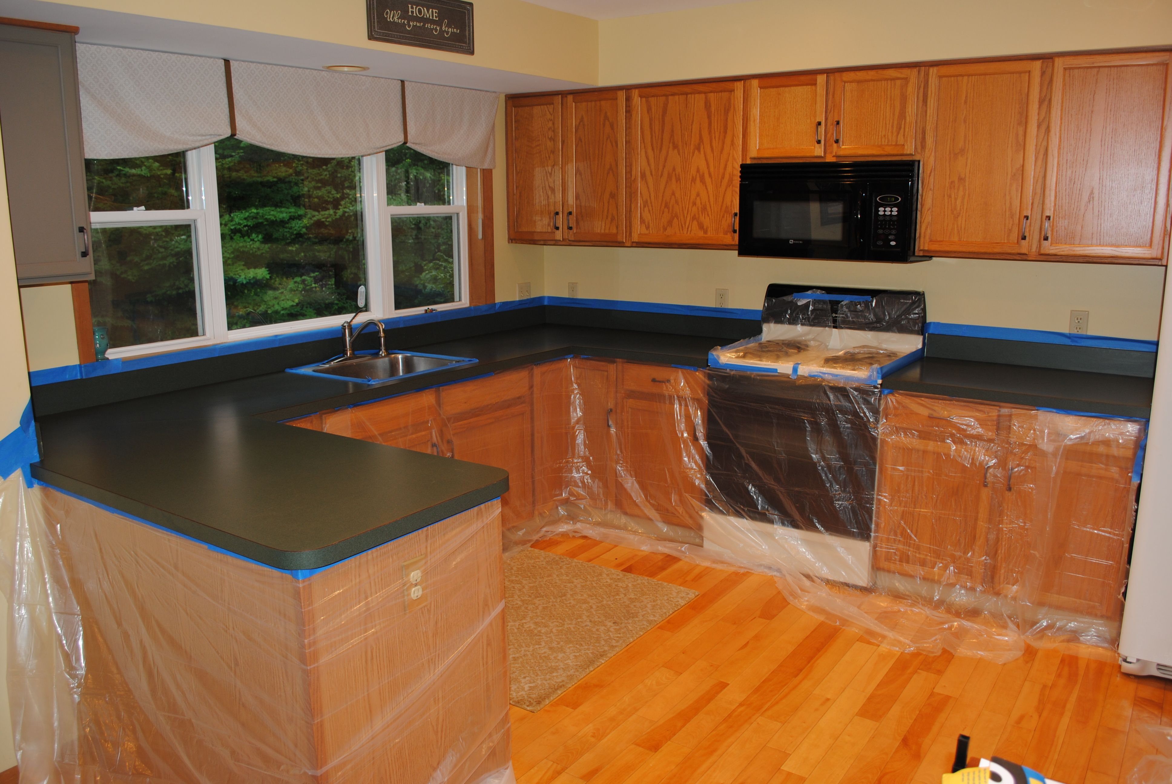 Kitchen Countertop Reveal Using The Rust Oluem Countertop