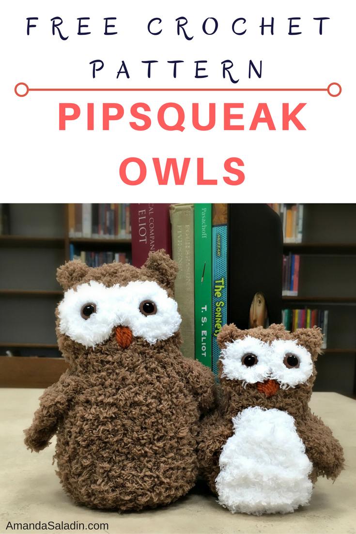 Pipsqueak Owls - Free Crochet Pattern | Figurin, Muñecas y Ave