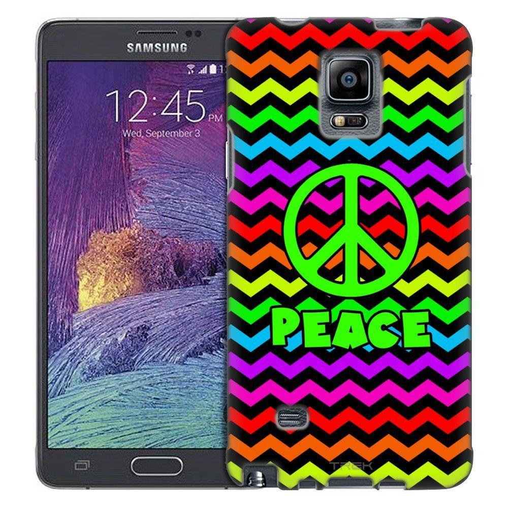 Samsung Galaxy Note 4 Anchor on Chevron Rainbow Black Slim Case