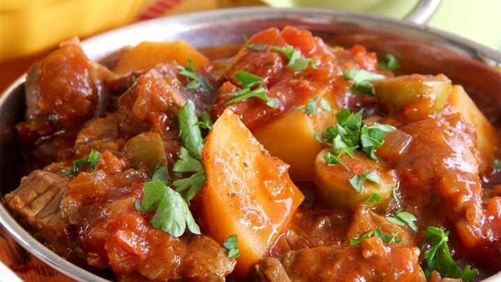 Try This Spanish Style Beef Stew Made With Sofrito Olives
