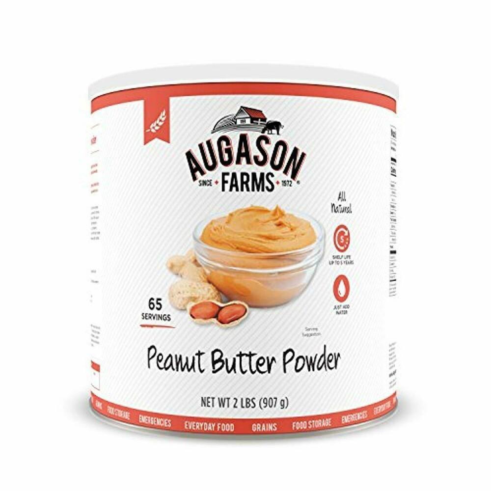 Augason farms peanut butter powder 2 lbs no 10 can freeze