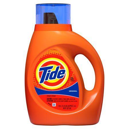 Tide Liquid Laundry Detergent Original 25 Loads 40 Fl Oz Laundry Liquid Liquid Laundry Detergent Liquid Tide