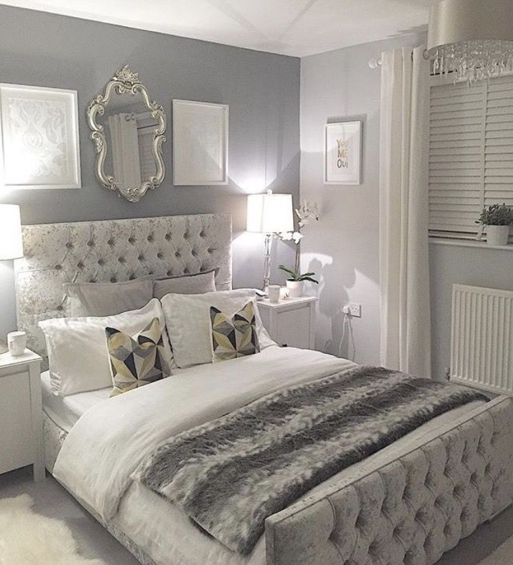 Grey Bedroom Design, Silver