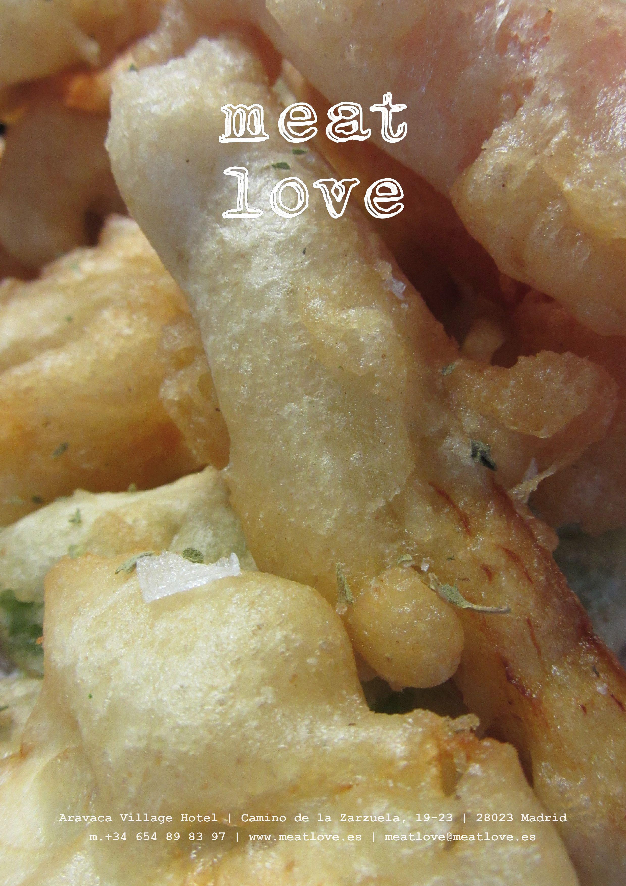 meat love | somos unos amantes de la carne, pero también elaboramos en NUESTRA COCINA PRODUCTOS 100% VEGETALES como estas verduras en tempura: ¡riquísimas!