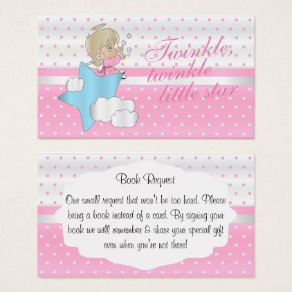 Twinkle Twinkle Little Star Book Request Enclosure Card