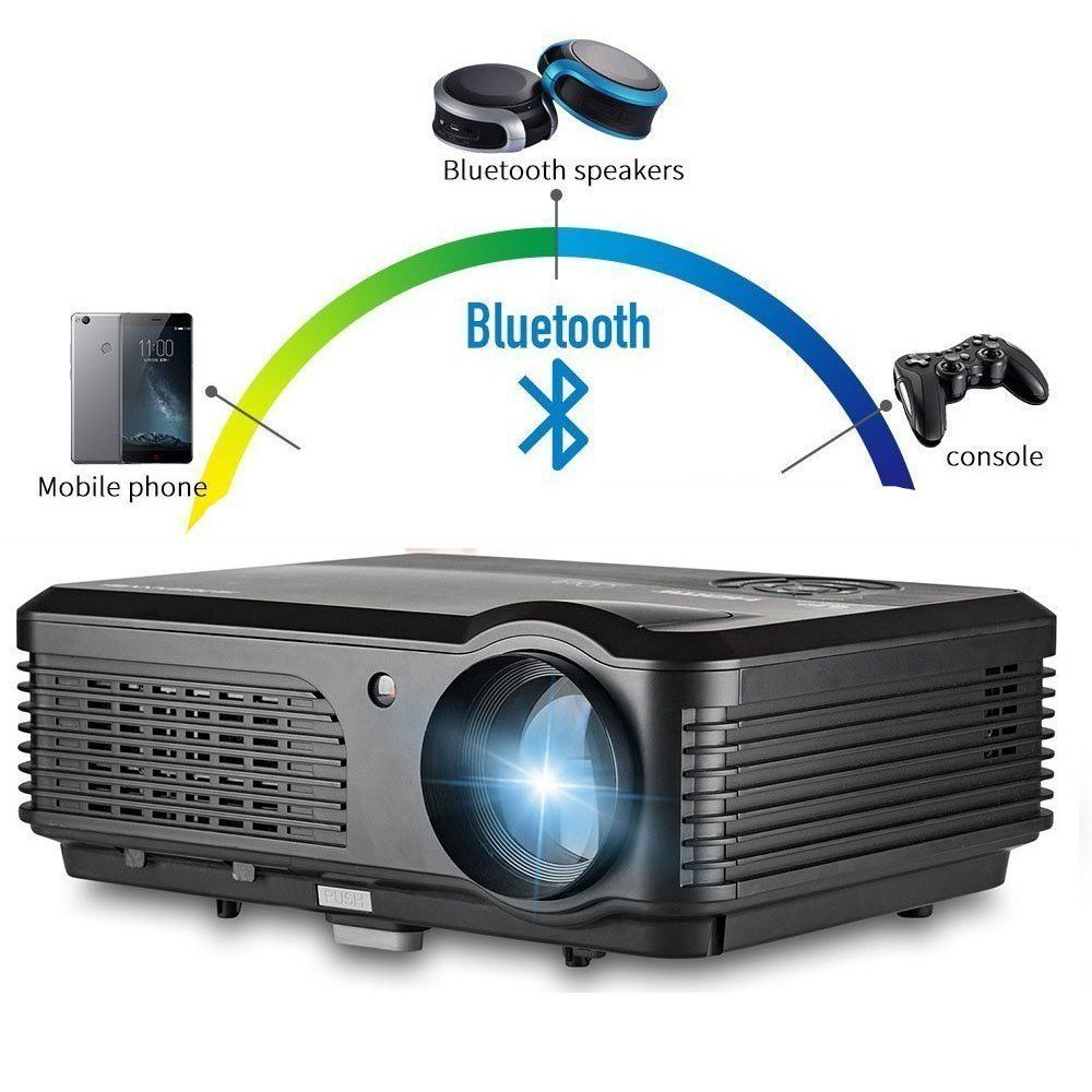 Wireless Projector Wifi Bluetooth 3200 Lumens (2017 Updated ...