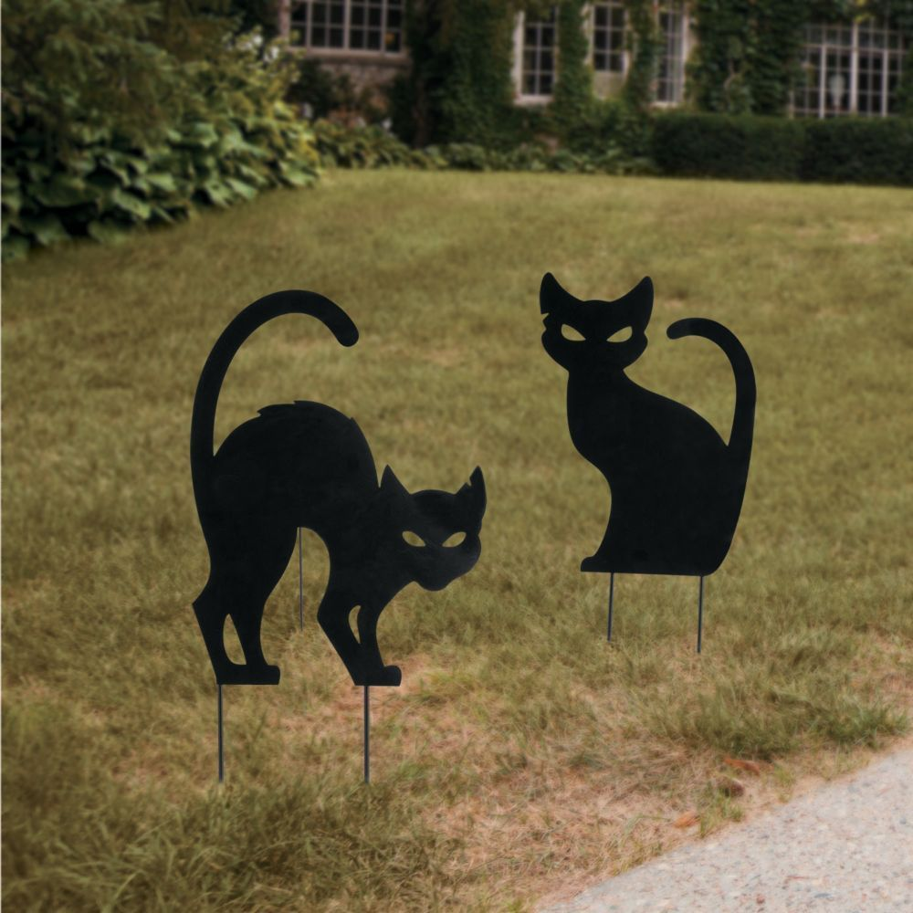 Silhouette Cat Yard Signs Halloween Decorations Halloween Silhouettes Halloween Yard Art Halloween Outside