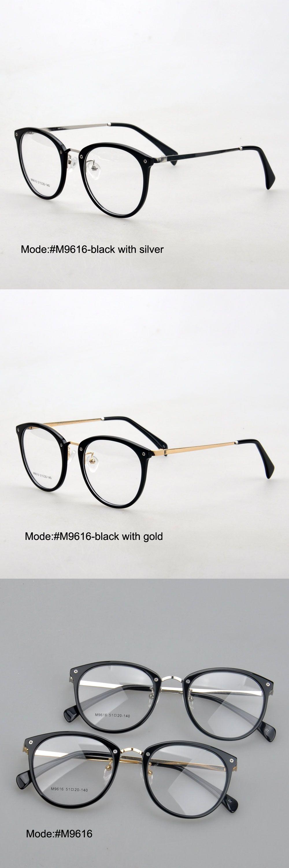 c8af930a9ca MY DOLI M9616 unisex full rim acetate and stainless steel RX optical frames  myopia eyewear eyeglasses
