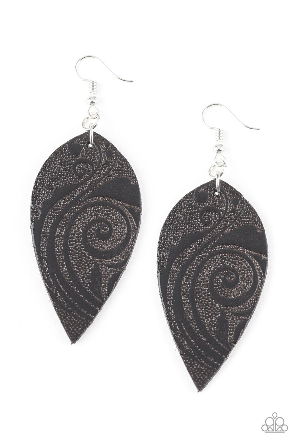 5f46d6750 Groovy Grove - Black Leather Earring 💞ONLY- $5💞 No Nickel! No Lead!  www.razzledazzlevip.com