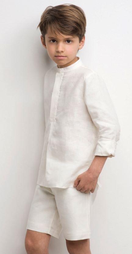 c93370644 Camisa y bermudas lino niño de Labubé