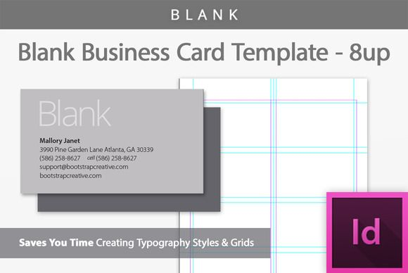 Blank Business Card Template by Bootstrap Creative on Creative - blank card template