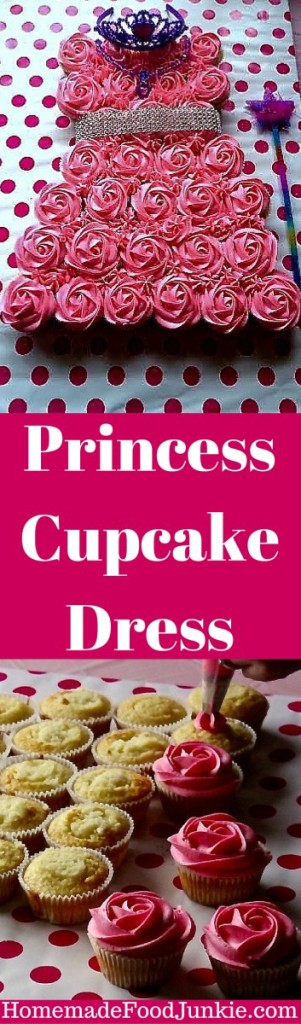 Princess Cupcake Dress tutorial, including help with the frosting design. An awesome scratch recipe for the cupcakes and frosting is included!