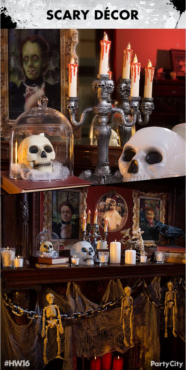 A Halloween hearth is the perfect addition to your haunted mansion - halloween decorations party