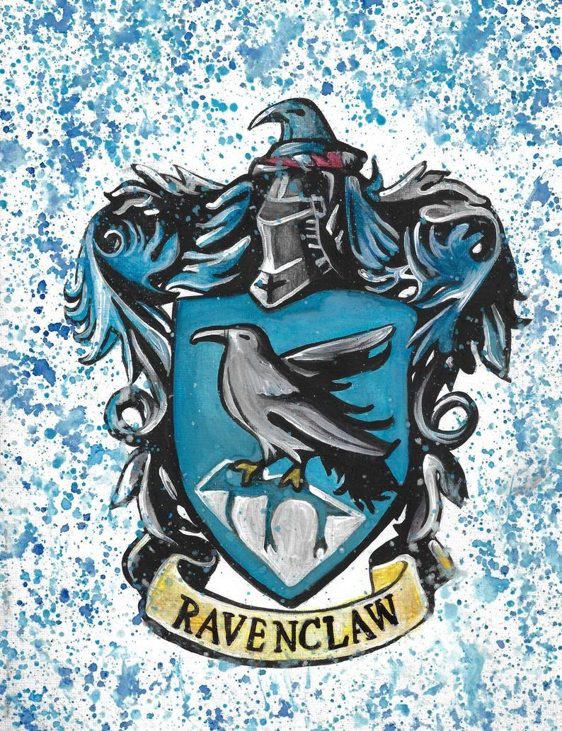 Harry Potter Hogwards House Gryffindor Hufflepuff Etsy Harry Potter Logo Art Ravenclaw