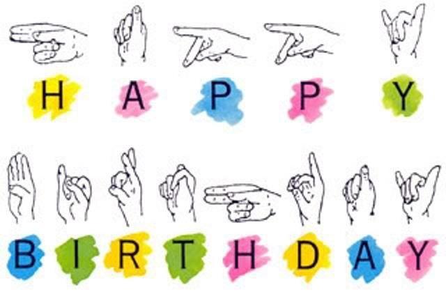 Happy Birthday In Asl Asl Pinterest Asl Sign Language